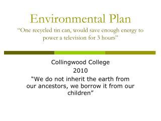 Collingwood College  2010