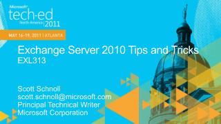 Exchange Server 2010 Tips and Tricks EXL313