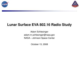 Lunar Surface EVA 802.16 Radio Study