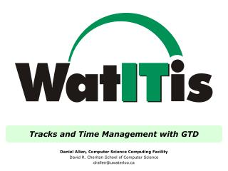 Tracks and Time Management with GTD