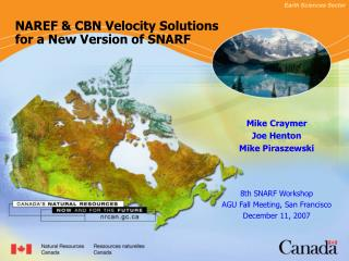 NAREF & CBN Velocity Solutions for a New Version of SNARF