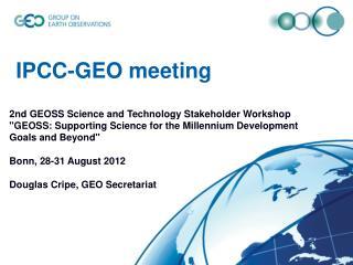 IPCC-GEO meeting