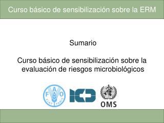 Sumario  Curso básico de sensibilización sobre la  evaluación de riesgos microbiológicos