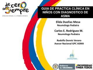 Rodolfo Dennis Verano Asesor Nacional GPC ASMA