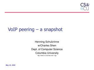 VoIP peering – a snapshot