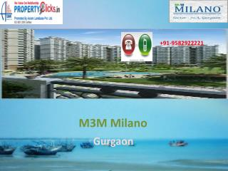M3M Milano Gurgaon booking@9582922221