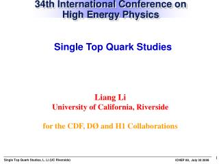 34th International Conference on High Energy Physics