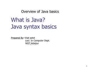 What is Java? Java syntax basics