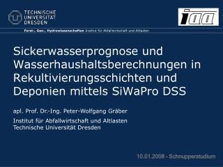 Forst-, Geo-, Hydrowissenschaften  Institut für Abfallwirtschaft und Altlasten