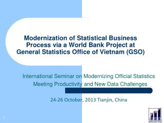 International Seminar on Modernizing Official Statistics