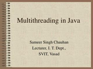 Multithreading in Java