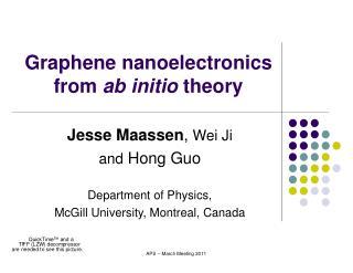 Graphene nanoelectronics from  ab initio  theory