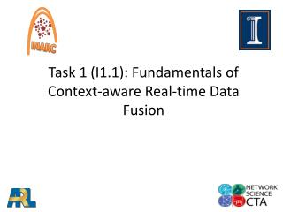 Task 1 (I1.1): Fundamentals of Context-aware Real-time Data Fusion