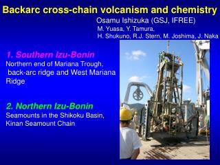 Backarc cross-chain volcanism and chemistry