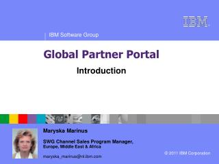 Maryska Marinus SWG Channel Sales Program Manager,  Europe, Middle East & Africa
