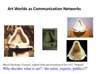Art Worlds as Communication Networks