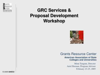 GRC Services & Proposal Development Workshop