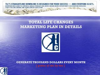 TOTAL LIFE CHANGES MARKETING PLAN IN DETAILS