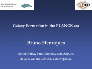 Galaxy Formation in the PLANCK era