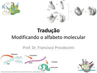 Tradu ção Modificando o alfabeto molecular
