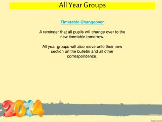 All Year Groups