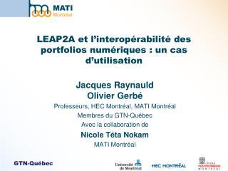 LEAP2A et l�interop�rabilit� des portfolios num�riques : un cas d�utilisation