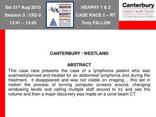 HEAPHY 1 & 2 CASE RACE 2 � RT Tony FALLON