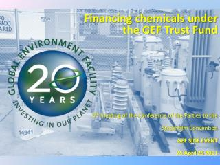 Financing chemicals under  the GEF Trust Fund