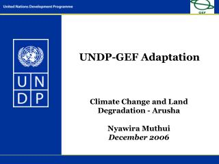 UNDP-GEF Adaptation