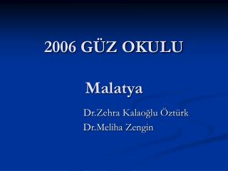 2006 GÜZ OKULU                                      Malatya