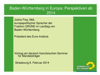 Josha Frey, MdL europapolitischer Sprecher der  Fraktion GRÜNE im Landtag von  Baden-Württemberg