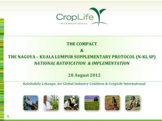 28 August 2012 Kelebohile  Lekoape, for Global Industry Coalition & CropLife International