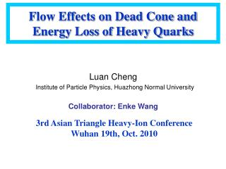 Flow Effects on Dead Cone and Energy Loss of Heavy Quarks