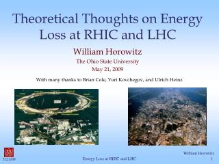 Theoretical Thoughts on Energy Loss at RHIC and LHC