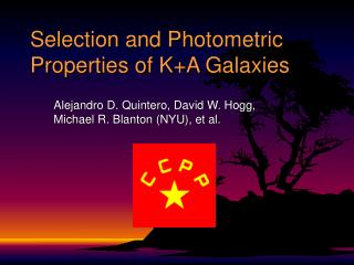 Selection and Photometric Properties of K+A Galaxies