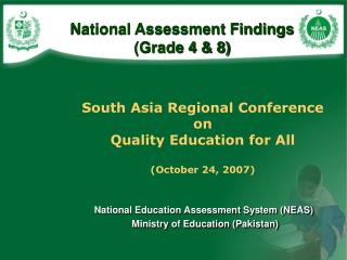 National Assessment Findings  Grade 4  8