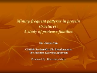 Mining frequent patterns in protein structures: A study of protease families