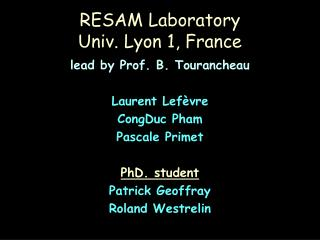 RESAM Laboratory Univ. Lyon 1, France