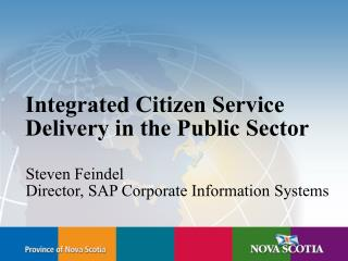 Integrated Citizen Service Delivery in the Public Sector