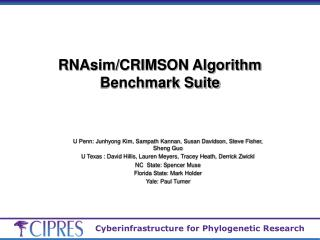 RNAsim/CRIMSON Algorithm Benchmark Suite
