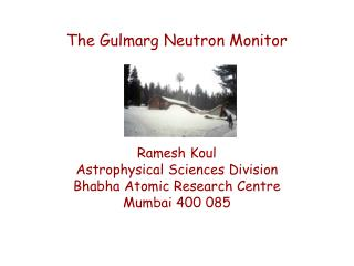The Gulmarg Neutron Monitor
