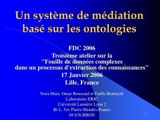 Un système de médiation basé sur les ontologies