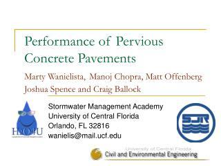 Stormwater Management Academy University of Central Florida Orlando, FL 32816