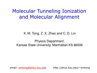 Molecular Tunneling Ionization  and Molecular Alignment