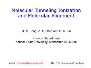 Molecular Tunneling Ionization  and Molecular Alignment