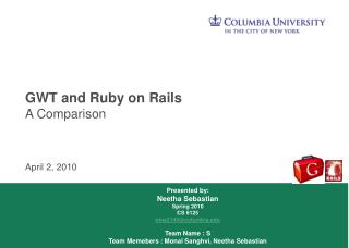 GWT and Ruby on Rails A Comparison