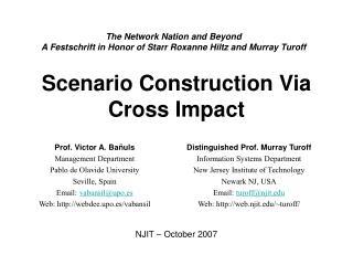 Scenario Construction Via Cross Impact