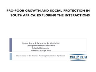 pro-poor growth and social protection in south  africa : exploring the interactions