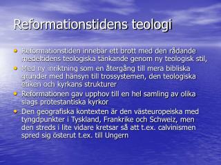 Reformationstidens teologi