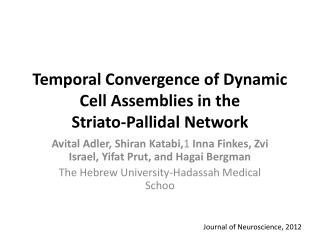 Temporal Convergence of Dynamic Cell Assemblies in the Striato-Pallidal  Network